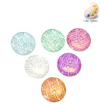 "Button 11/16"" Flat 2 Hole Etched Ice Design *Colors* Per Piece"
