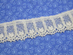 "Venise Lace 1 1/2"" (38mm)  Ivory Floral Arch Priced Per yard"