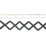 "Iron On Patch Applique - Decorative Strip Black Diamonds 12"" & up"