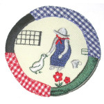 Iron On Patch Applique - Feeding Bird Patch
