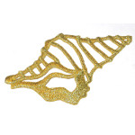 Iron On Patch Applique - Conch Shell Metallic Gold