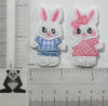 Bunny Rabbit  Patch Embroidered Iron On Applique  *Colors*