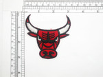 Bull Head Patch Red Iron On Embroidered Applique
