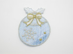 Christmas Tree Ornament Iron On Patch Applique