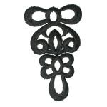 Iron On Patch Applique - Black Decorative 7158