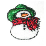 Iron On Patch Applique - Snowman Bumpkin
