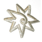 Iron On Patch Applique - Decorative Star Silver