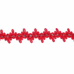 "Braid 5/8"" Red & Metallic Silver 6 Yards"