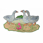 Iron On Patch Applique - Barnyard Geese