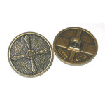 "Button 7/8"" Antique Brass Finish Medieval Style Per Piece"