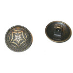 "Button 13/16"" Antique Bronze Finish Star Per Piece"