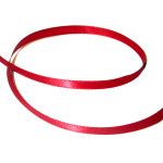 """Nylon Ribbon 1/4"""" Double Face 100 Yard Roll Red"""