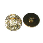"Button 7/8"" Gold Finish Per Piece"