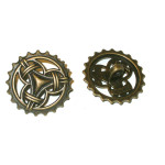 """Button 15/16"""" Antique Finish Celtic Style Per Piece"""