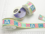"ABCD 1"" (25mm) woven Jacquard Ribbon 4ft roll"