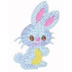 Iron On Patch Applique - Rabbit Cross Stitch Style