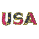 "Iron On Applique - USA 2 1/4"" tall"