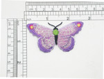 Butterfly Iron On Patch Applique Sparkle Web Lilac