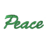 Peace script Iron On Applique