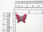 Butterfly Mini Red & Pink Iron On Patch Applique
