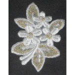 Iron On Patch Applique - Floral Spray Beaded