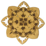 Iron On Patch Applique - Laser Cut Layered Flower 7689