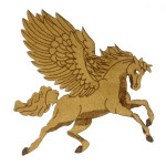 Iron On Patch Applique - Laser Cut Pegasus