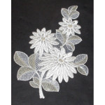 Iron On Patch Applique - Flower Spray Beaded Large