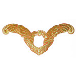 On Patch Applique - Flying Angel Metallic Gold