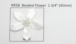 "Satin Ribbon Beaded Flowers 10 Pack 1 3/4"" (45mm)"