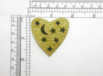 Heart Patch Celestial Stars & Moon Iron On Embroidered Applique