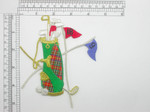 Golf Bag Patch with Numbered Flags Iron On Embroidered Applique