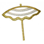 Iron On Patch Applique - Beach Umbrella.