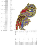 Iron On Patch Applique - Exotic Gem Eye Bird Chewink