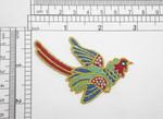 Pheasant w Gem Eye Iron On Embroidered Applique