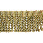 "Bullion Fringe 2 1/2"" Khaki 4 5/8 Yards"
