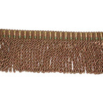"Bullion Fringe 3"" Rust Green Gold 5 Yards"
