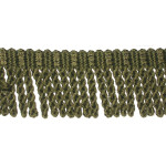 "Bullion Fringe 2 1/2"" Moss Green Priced Per Yard"