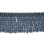 "Bullion Fringe 3"" Blue Polyester Per Yard"