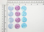 """4 x Flower Sheer Mini *Colors* Iron On Patch Appliques Embroidered on a sheer Backing Measures 1"""" across x 1"""" high across approximately"""