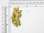"Butterfly Flying Patch Iron On Embroidered Applique 2 1/4"" x 1 1/4"""