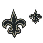 "Fleur De Lys New Orleans Iron On Patch Applique Small 2"" tall"