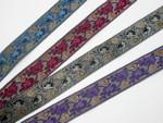 "Jacquard Ribbon 1 1/4"" (31.75mm) Metallic Florals *Colors* Per Yard"
