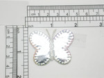 Butterfly Mirror Wing Iron On Patch Applique