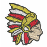 Iron On Patch Applique - Right Facing Chief Head