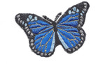 "Monarch Butterfly 3 1/8"" Royal Iron On Patch Applique"