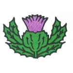 "Iron On Patch Applique - Thistle Scottish Highland 2"" High"