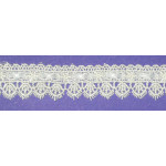 """Venise Lace 1 1/8"""" Off White Ribbon Insertion Priced Per Yard"""