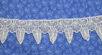 """Venise Lace 1 3/4"""" (44mm) Ivory Gothic Drop Priced Per Yard"""