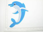 "Giant Dolphin Patch Iron On Embroidered  Applique 8 1/2"" x 5 7/8"""